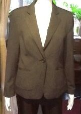 Black/grey Pin Striped Fully Line Fitted Jacket From Next Size 14 Petite.
