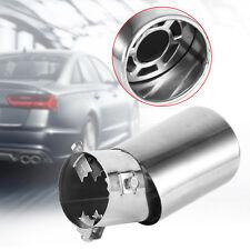 Universal Chrome Slanted Car Exhaust Pipe Tip Muffler End Trim Cover 38mm-53mm