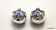 AUTHENTIC PANDORA BRIGHT STAR CLIPS (2) , MULTI COLOR CRYSTALS #796380NSBMX BOX
