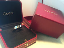 CARTIER LOVE Ring Gr.53 750/000 WEISSGOLD mit 3 Brillanten und original Box