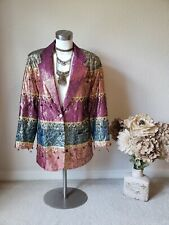 Rare Indian Vintage BOHO Colorful Jacket Blazer Women's S/M