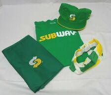 Subway Team Uniform Unisex Size S - 4 pc. Set with Hat, Shirt, Apron & Headband
