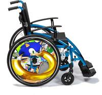 Wheelchair Spoke Guard SKINS Custom Designs Personalised Kids & Adults D4