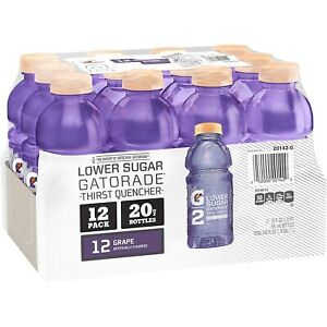 Gatorade G2 Thirst Quencher, Grape, 20 Oz Bottles (Pack of 12) Lower Sugar