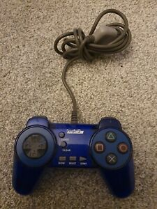 Sony PlayStation 1/PS1 Controller Blue Logic 3 Speed Pad