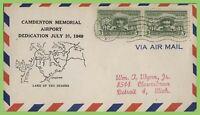 U.S.A. 1949 Airport Dedication, Camdenton, Montana cover