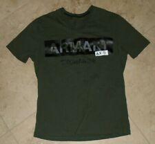 Dark Olive Green Armani Exchange v-neck t-shirt Adult M Medium