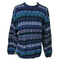 Vintage 90s Men's Large Expressions International Cosby Biggie Hip Hop Sweater L