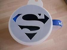 LASER CUT SUPERMAN design caffè e Craft Stencil