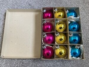 Vintage Glass Christmas Baubles / Decorations