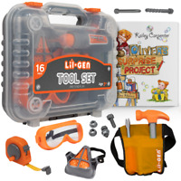 Kids Tool Set w Book - Pretend Play Toys for Boys & Girls Age 3+, Tools & Case