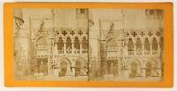 Italia Venezia Palais Ducale Foto Stereo PL55L4n Vintage Albumina c1880