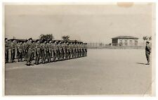 Postcard WW2 Soldiers On Parade Square Bashing RPPC Z
