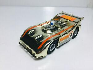 AFX PORSCHE 510K Gold Chrome #4 & New Ultra G Chass  Model Motoring Aurora MINT!
