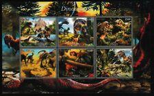 Dinosaurs miniature sheet mnh raptors Tyrannosaurus dino babies
