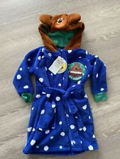 ☆Hey Duggee Boys Girls Fleece Warm Dressing Gown Tu 1-2 Years 12 Months
