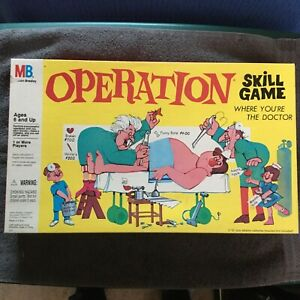 Operation Skill Game Where You're The Doctor 1997 Milton Bradley