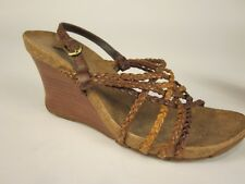 f2a60053e815 Kenneth Cole REACTION Women s Wedge Braided Strap Sandal Size 5.5M