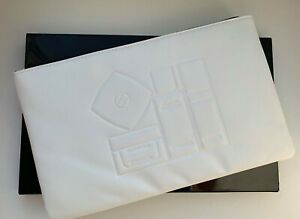 CHANEL COSMETIC/MAKEUP BAG POUCH CLUTCH WHITE SKINCARE VIP GIFT