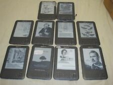LOT OF 10 DAMAGED AMAZON KINDLE D00901 E-READERS FOR PRTS/REPAIR -READ!