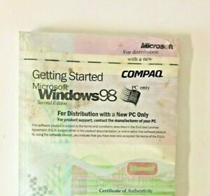 Microsoft Windows 98 - Getting Started -PC only Genuine OEM -Complete and SEALED
