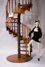 Staircase with handrails in Gothic style for Dolls 1/6 1:6  FR Barbie diorama v2