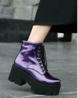 Details about  /Womens Chic Floral Embroidered Mesh Rhinestone Block Heel Ankle Boots Shoes BGHE