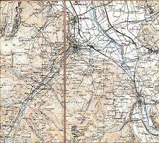 Monthey St-Maurice Bex 1936 Teilkarte /Ln. Collombey Muraz Val d'Illiez Morgins