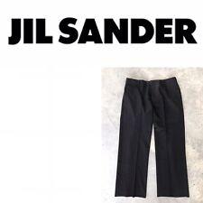 Jil Sander Black Virgin Wool Dress Women's Trouser Straight Leg Pants Size 38
