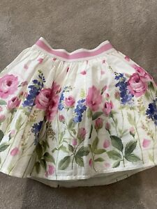 Monnalisa roses skirt with tulle underlay, age 6