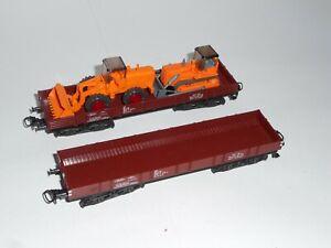 Marklin 4473, 4474 flatcars x 2. In excellent cond. 3 rail AC. HO scale. No box