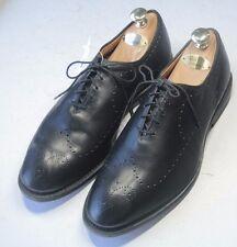 ALLEN EDMONDS Fairfax Sz 10 3E Black Whole Cut Mens Oxford Dress Shoes