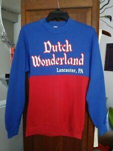 Vintage Dutch Wonderland Crewneck Shirt 50/50 Rare NOS Lancaster PA size M USA