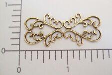 13683           2 Pc  Brass Oxidized Victorian Filigree Jewelry Finding