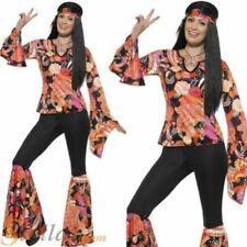 Disfraces de mujer multicolor, años 70