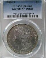 1880 O US Morgan Silver Dollar PCGS Graffiti XF Detail Coin