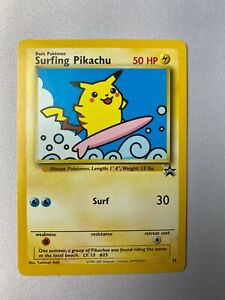 Surfing Pikachu - WOTC Black Star Promo #28 - NM