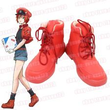Cells at Work Red Blood Cell Red Shoes Cosplay Halloween Ankle Shoes Customized