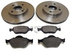 Front Vented Brake Discs Ford Fiesta 1.4 TDCi Box 2003-08 68HP 258mm