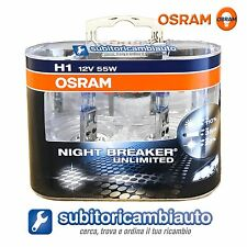 LAMPADE OSRAM H1 NIGHT BREAKER UNLIMITED 64150NBUDUO COPPIA