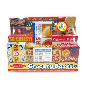 Set of 10 Play Food Grocery Shelf Boxes #5501 Melissa & and Doug