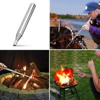 10mm Retractable Blowing Tube Outdoor Camping Survival Blow Fire Tube Blowpipe