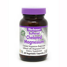 Blue Bonnet Buffered Chelated Magnesium 200 Mg 60 Vegicaps Made in USA FREE SHIP