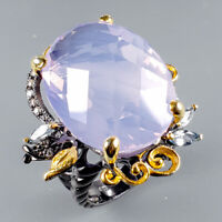 Lavender Amethyst Ring Silver 925 Sterling Top Color AA 30ct+ Size 9 /R128800
