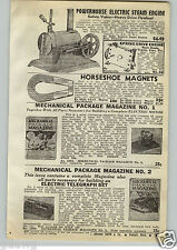 1940 PAPER AD Powerhouse Electric Toy Play Steam Engine Golden Flyer Train