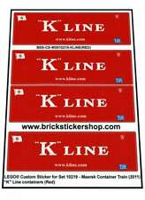 Pre-Cut Alternative Stickers Lego® MAERSK 10219 - K-Line Containers (Red)