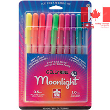 Moonlight Gel Ink Pen Set Assorted Color Blister Card Waterproof Fade Resistance