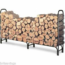 NEW!! Landmann Firewood Outdoor 8 Foot Log Rack Holder Wood Logs Storage 82433