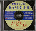 1961-1962 AMC Rambler Shop Manual CD American Classic Ambassador Repair Service