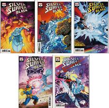 SILVER SURFER: BLACK #1,2,3,4,5 RON LIM VARIANT COVER SET ~ Marvel Comics